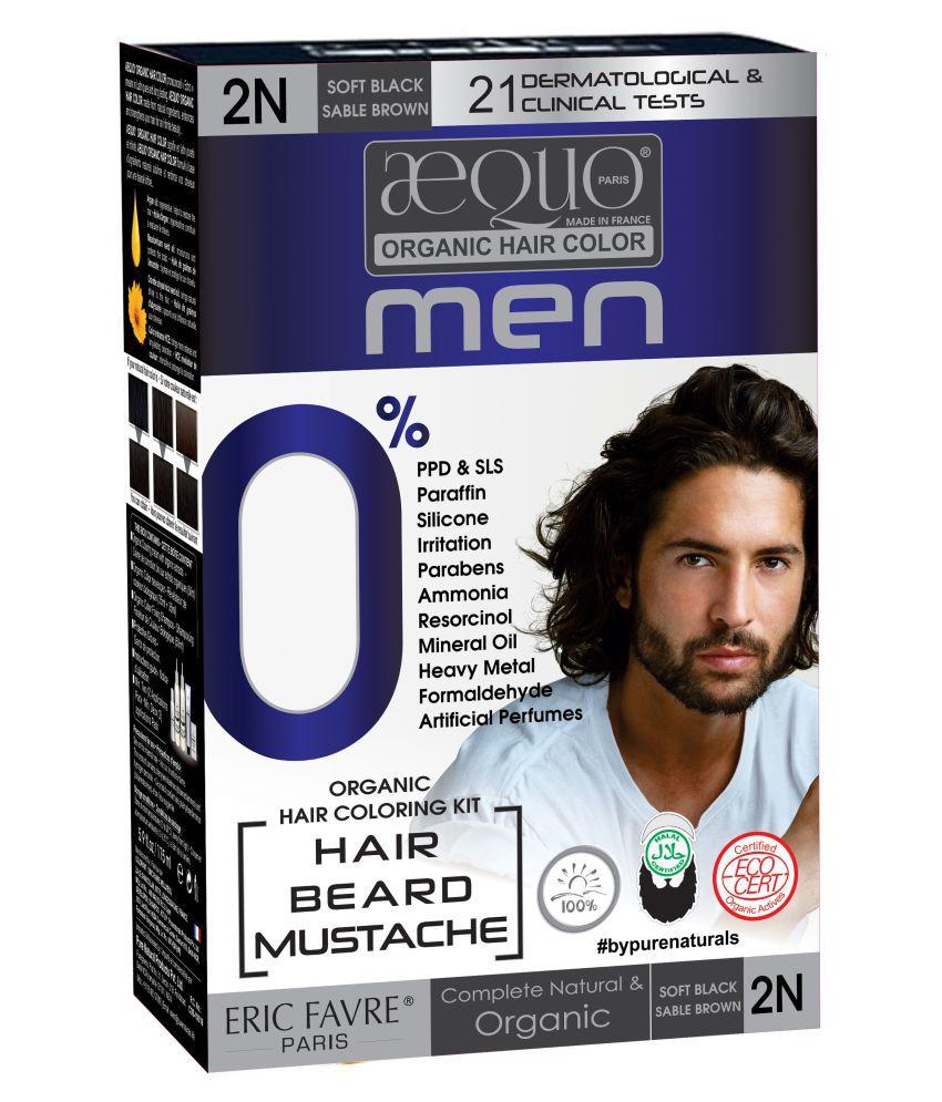 Aequo Organic Men 2N Semi Permanent Hair Color Black Blackish Brown 20 ml