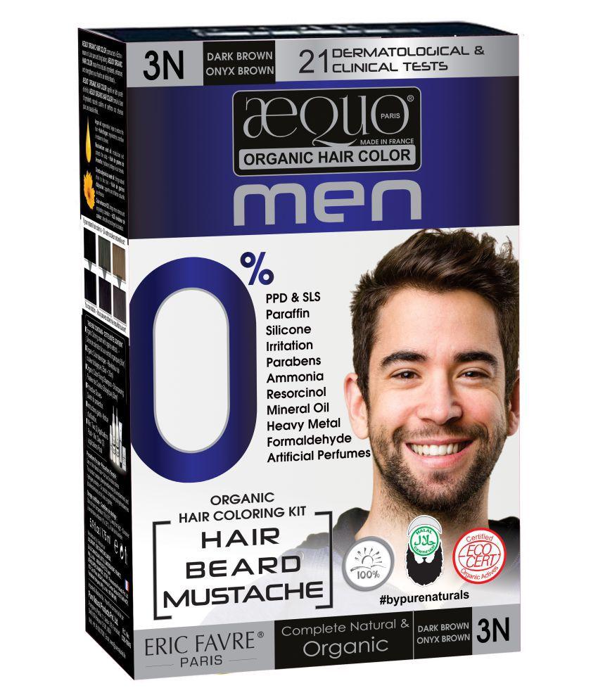 Aequo Organic Men 3N Semi Permanent Hair Color Dark Brown 170 ml