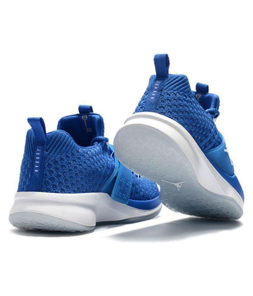1df198f61479 Nike Air Jordan Trainer 2 Flyknit Blue Basketball Shoes - Buy Nike ...