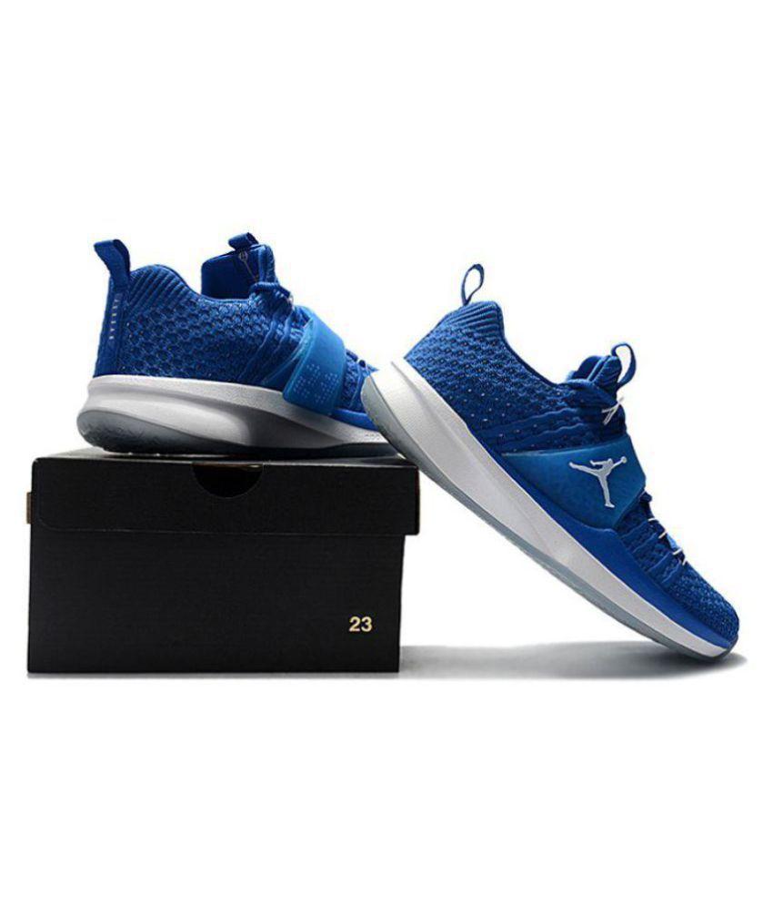 buy popular 6c2bb 15a6c Nike Air Jordan Trainer 2 Flyknit Blue Basketball Shoes - Buy Nike Air  Jordan Trainer 2 Flyknit Blue Basketball Shoes Online at Best Prices in  India on ...