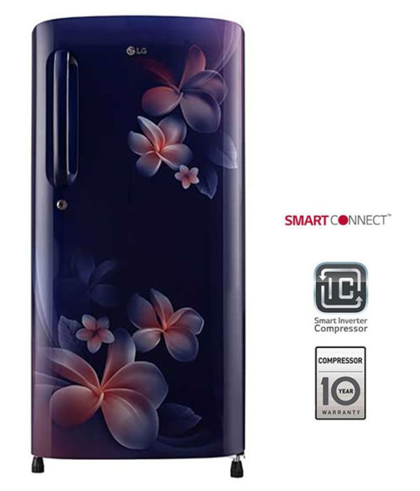 LG 190 Ltr 4 Star GL-B201ABPX Single Door Refrigerator - Blue