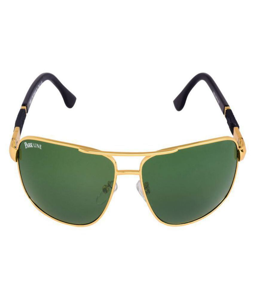 d3c6b0f682 Park Line Green Aviator Sunglasses ( SGPL-3552-GOLDEN ) - Buy Park ...
