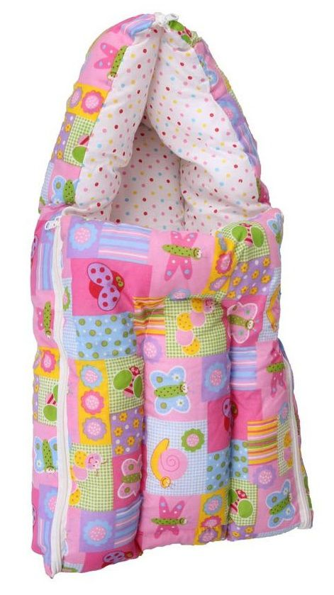Orange and Orchid Pink Cotton Sleeping Bags ( 65 cm × 36 cm)