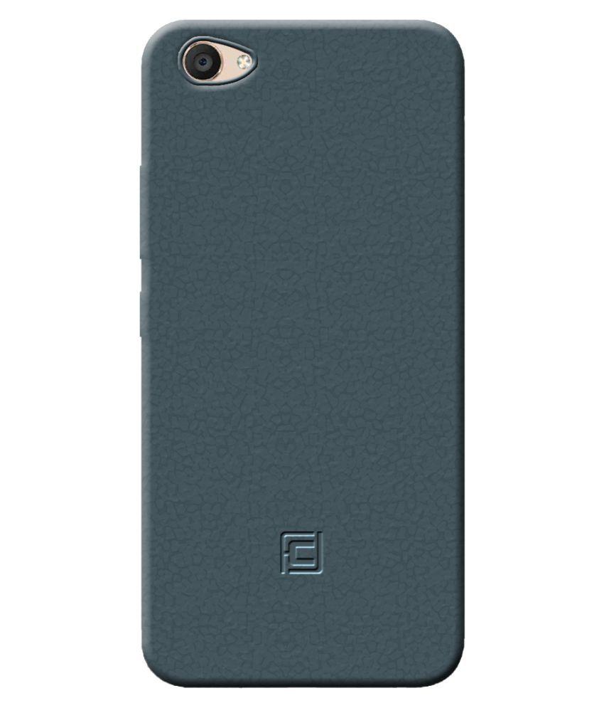 Vivo Y67 Soft Silicon Cases Cellmate - Multi Teal Blue Premium Quality TPU Retro Designer Look