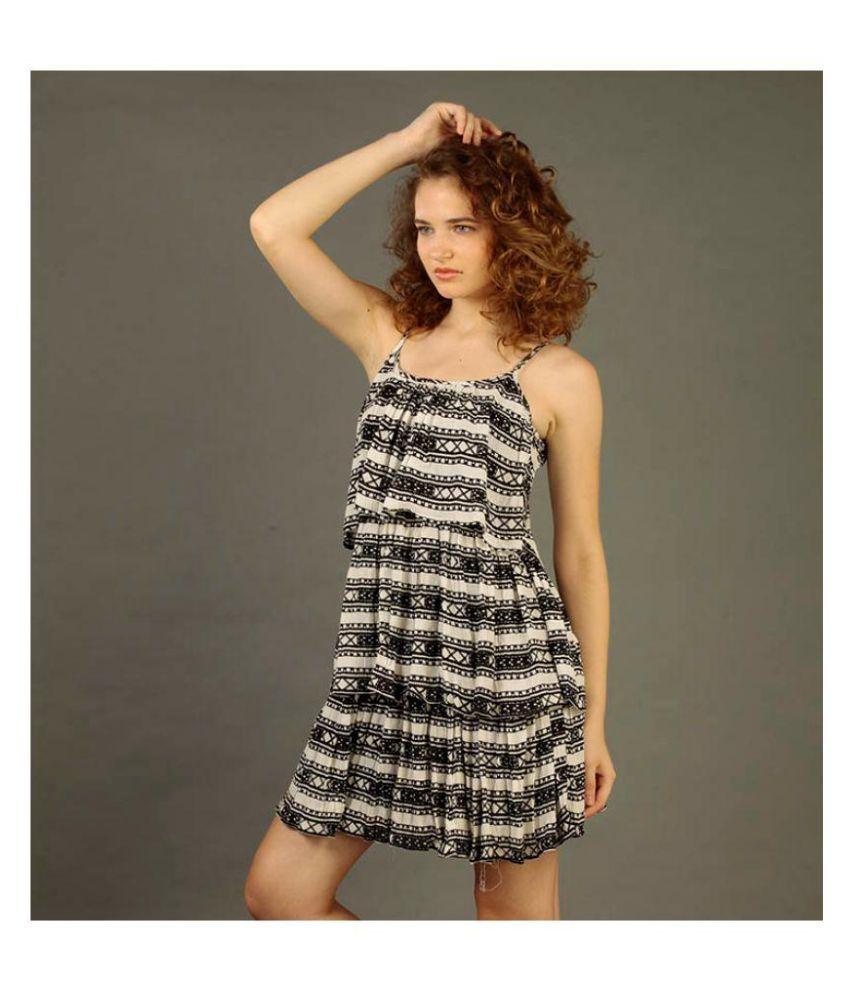 armaan khan designs Poly Crepe Multi Color A- line Dress