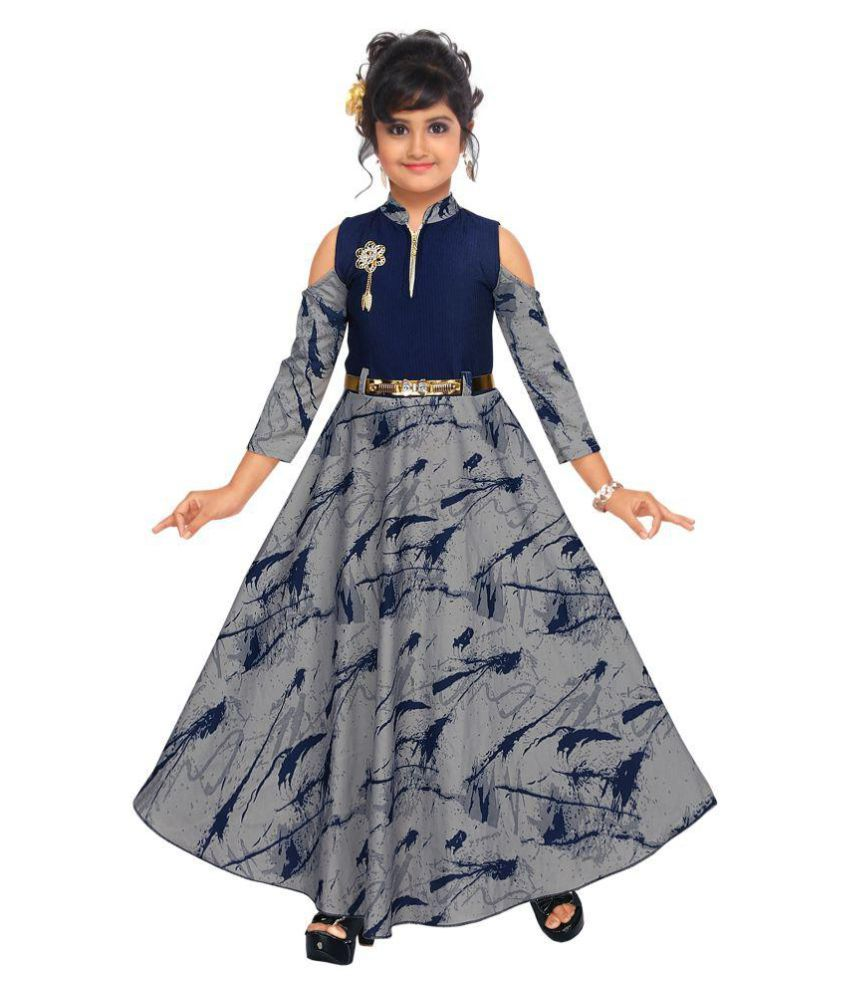 a80b5fac86 ARK Fashion , Girls Full Length Fancy Party Wear Gown Dress - Buy ARK  Fashion , Girls Full Length Fancy Party Wear Gown Dress Online at Low Price  - Snapdeal