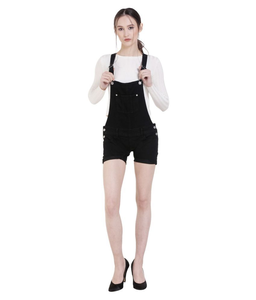 Mansi Collections Denim Jeans Dungarees - Black