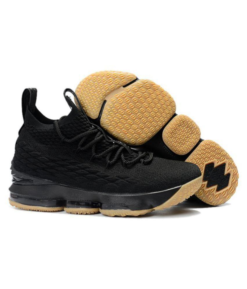 9efc0a222775c Nike LEBRON 15 EP Black Basketball Shoes - Buy Nike LEBRON 15 EP Black  Basketball Shoes Online at Best Prices in India on Snapdeal