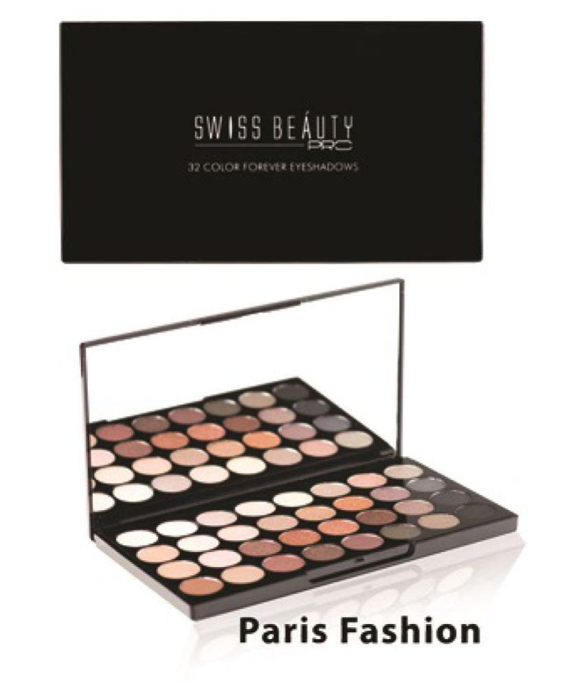 Swiss Beauty Pro 32 Color Forever Paris Fashion Eye Shadow Pressed Powder Colours 24 gm