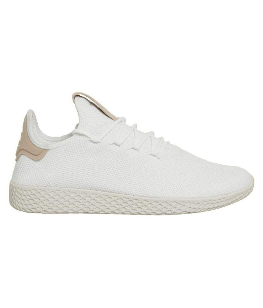 499543b1691de Adidas PW TENNIS HU White Tennis Shoes - Buy Adidas PW TENNIS HU White  Tennis Shoes Online at Best Prices in India on Snapdeal