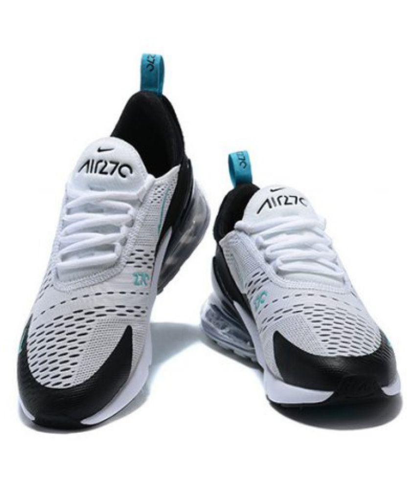 new arrival b73ee e1a19 Airmax 270 White Running Shoes