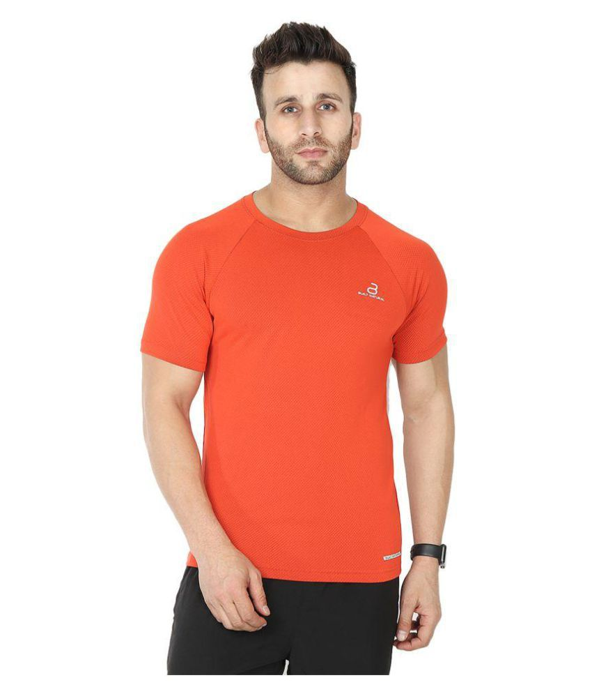 BUILT NATURAL Orange Cotton T-Shirt Single Pack