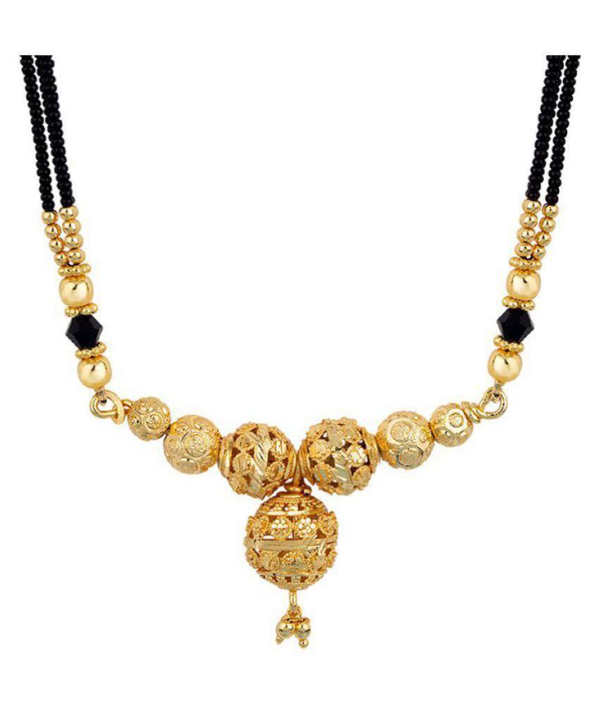 Voylla Everyday Golden Talkies Mangalsutra Gift for Her, Wife, Women, Party  Wear, Daily Wear,Festive Wear,Diwali