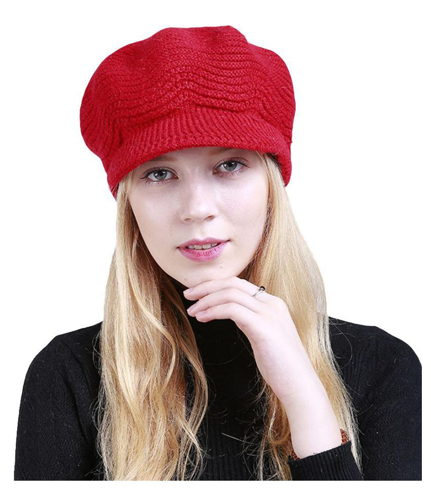 b09902e7fa3d6 Fashion Women Girl Solid Color Winter Warm Knitted Hat Cap Christmas  Present  Buy Online at Low Price in India - Snapdeal