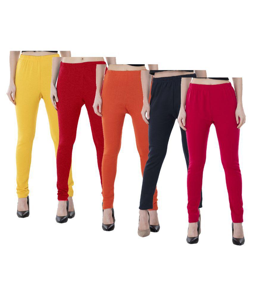 KAYU Woollen Pack of 5 Leggings
