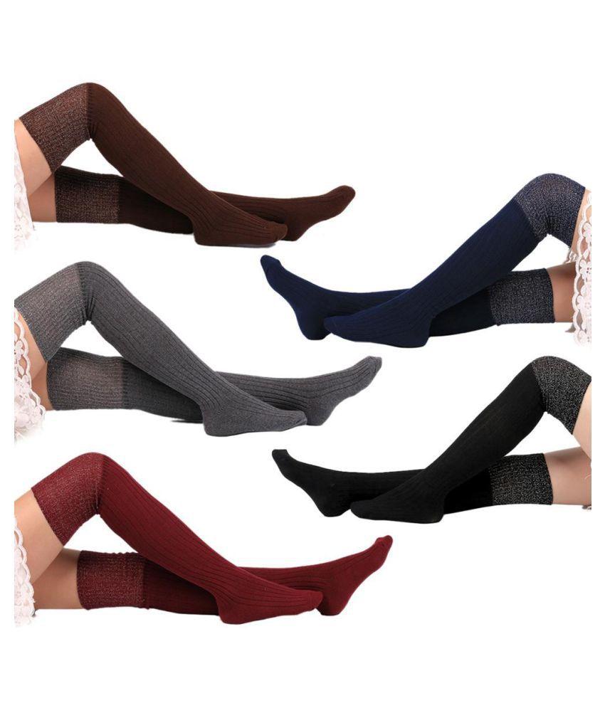 873fbe6c6 ... Women Soft Cotton Over Knee Winter Warm Socks Sexy Hose Stockings Gift  Charm ...