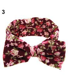 Baby Toddler Girl Sweet Floral Bowknot Wide Turban Headband Head Hair Band