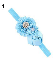 Baby Toddler Infant Flower Rose Rhinestone Hair Band Headband Photo Prop Tool