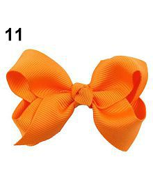 Lovely Bow Bowknot Girl Kids Hair Duckbill Clip Solid Color Hair Accessory Gift
