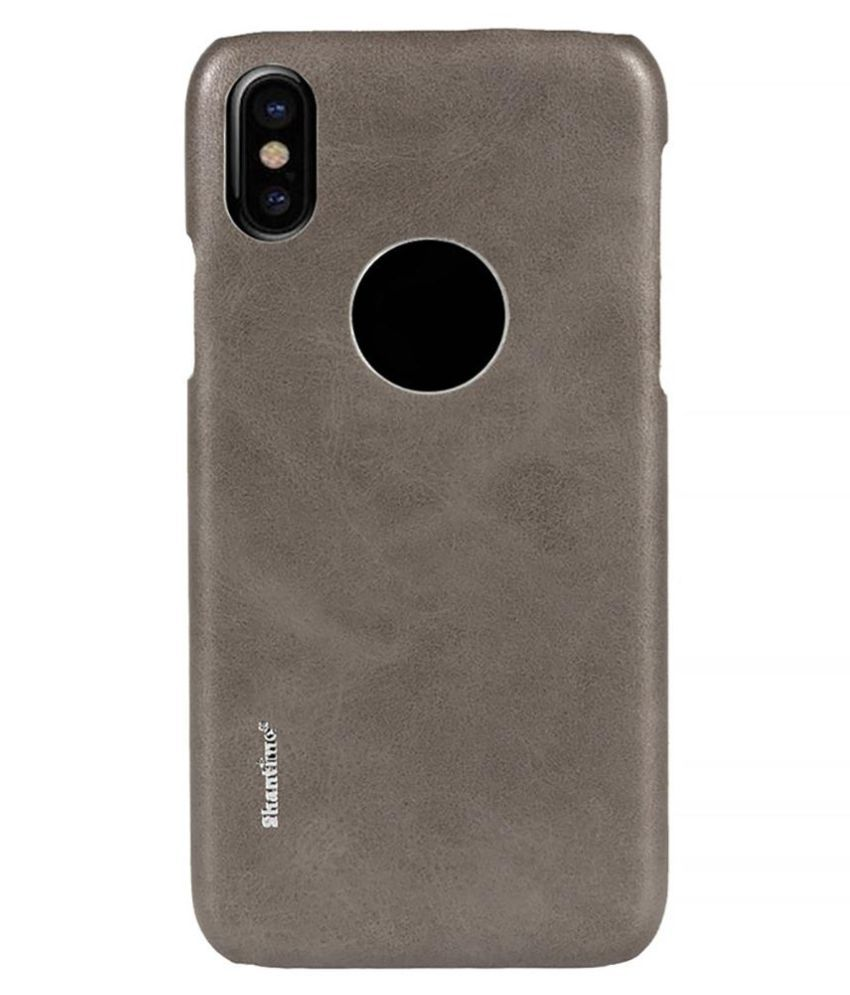 14b02e377f Fashion Solid Color Faux Leather Back Phone Case Protective Cover for iPhone  X Price in India - Buy Fashion Solid Color Faux Leather Back Phone Case ...