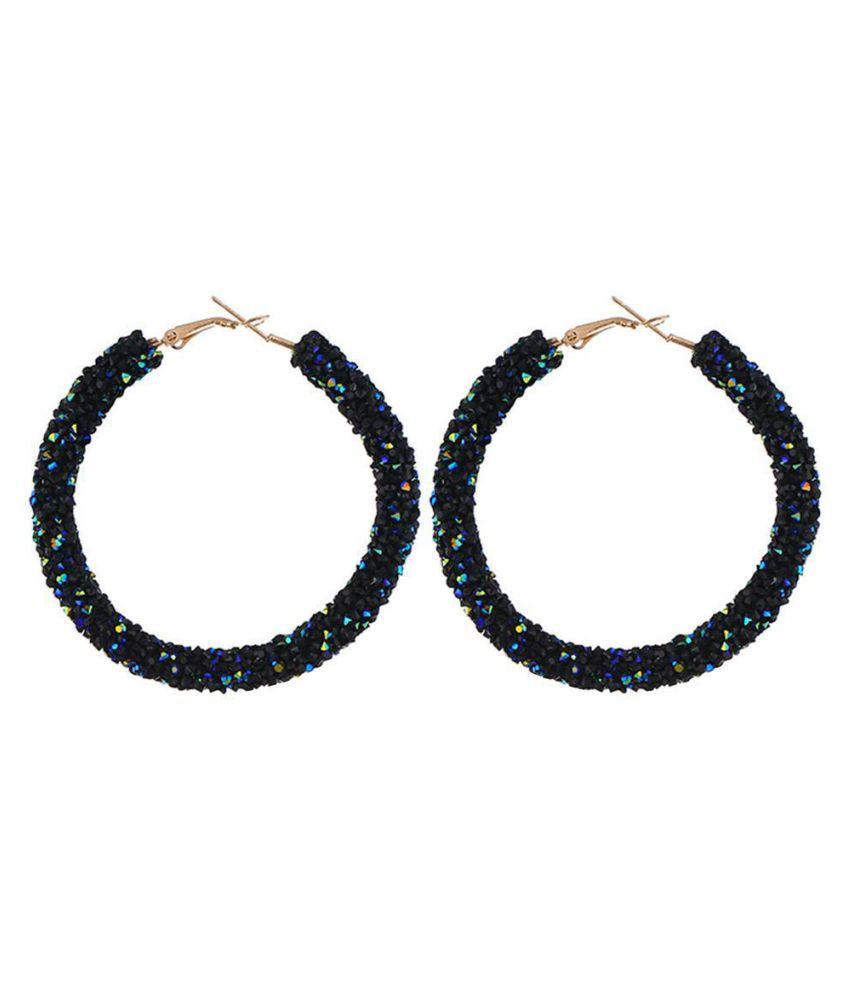 Women Crystal Rhinestone Hoop Earrings Circle Earrings Fashion Jewelry Fashion Jewellery