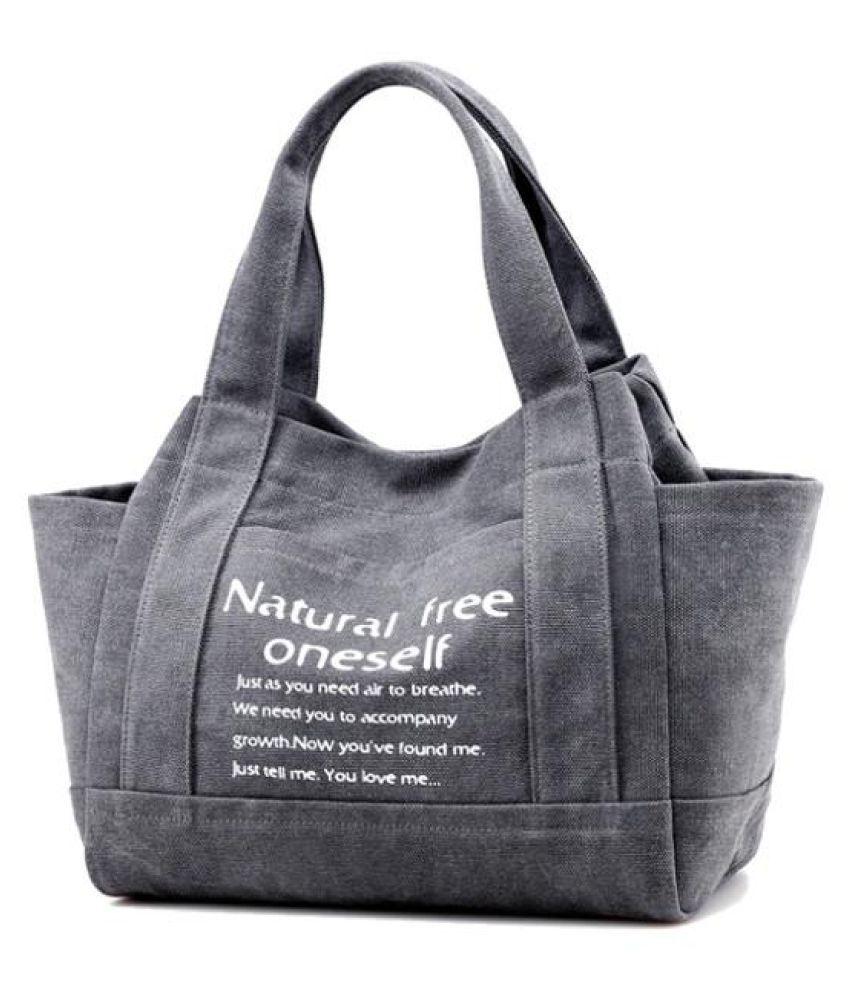 Women Canvas Tote Handbags Casual Printing Shoulder Bags Capacity Shopping Bags