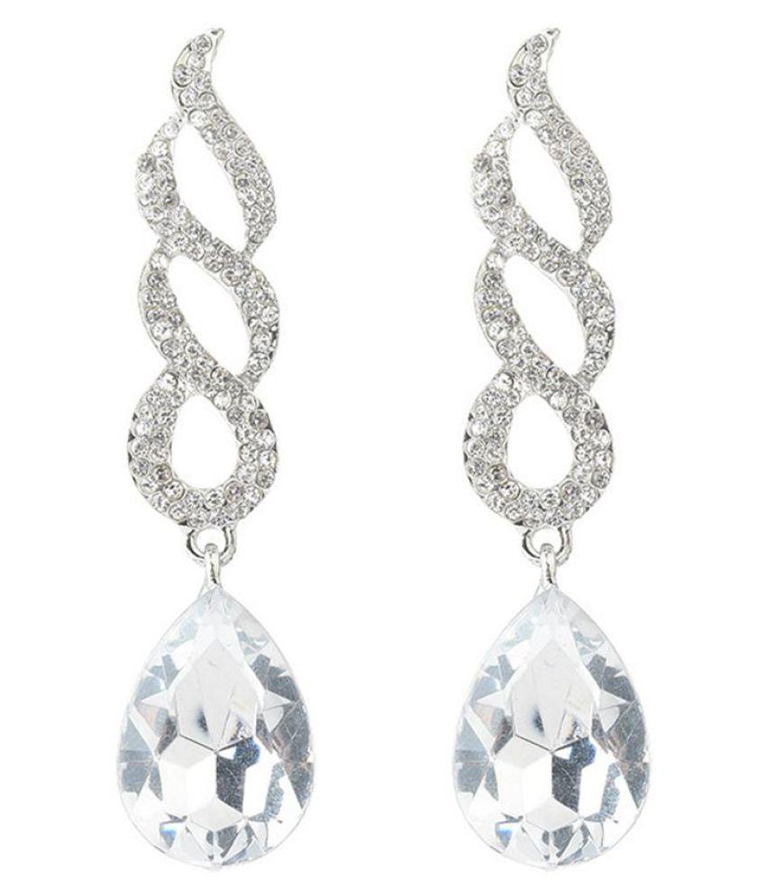 Hollow Spiral Rhinestone Bridal Jewelry Women Fashion Drop Earrings Eardrop Fashion Jewellery