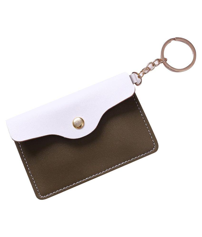 Lovely Faux Leather Women Girls Coin Purse Card Bag Mini Wallet with Keyring