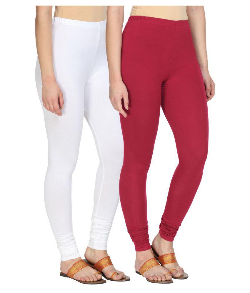 Alena Cotton Lycra Pack of 2 Leggings