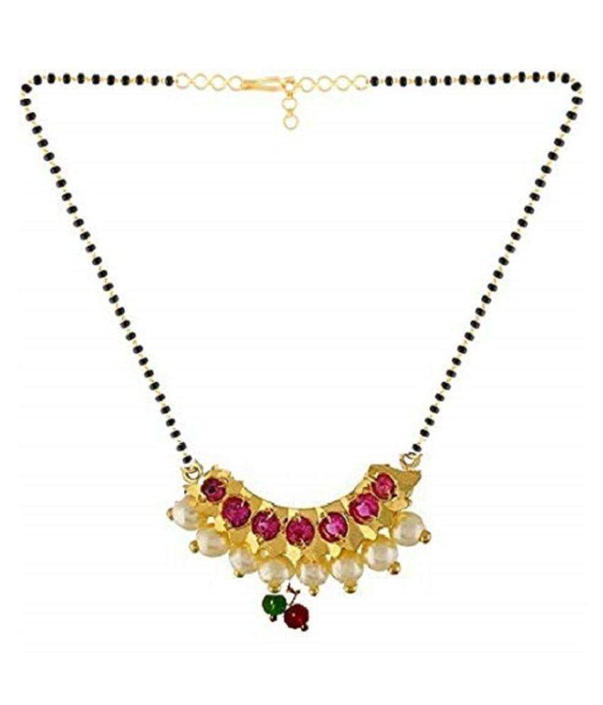 GirlZ! Maharashtrian Pearl Banu Nath Mangalsutra for Women