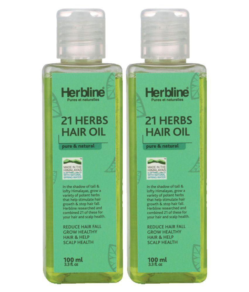 Herbline 21 Herbs Hair Oil Brahmi, Amla 100 ml Pack of 2