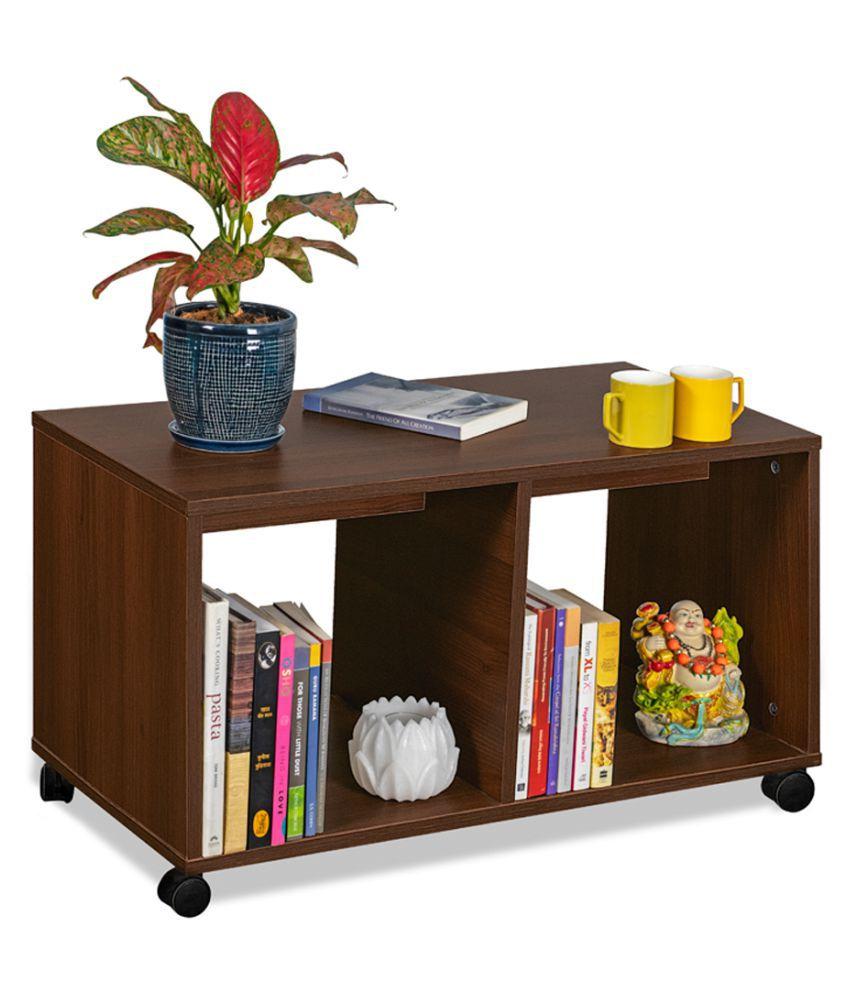 Delite Kom Eden Engineered Wood Coffee Table  Finish Color  Acacia Dark