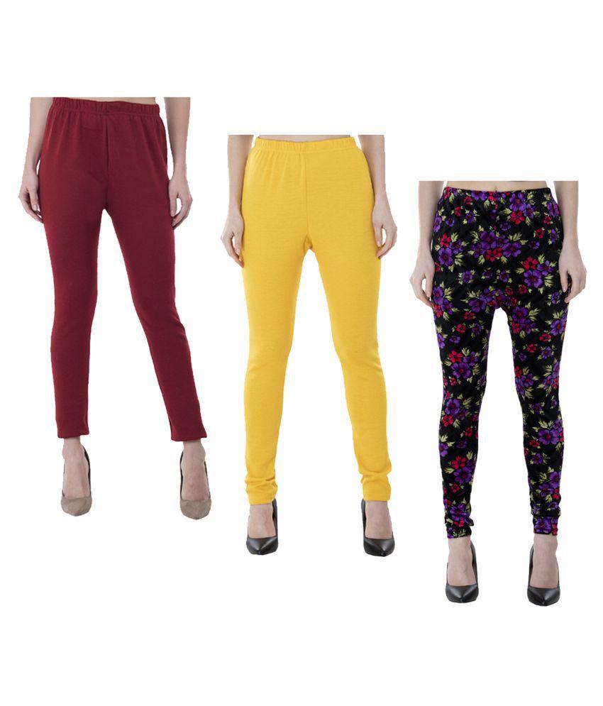KAYU Woollen Pack of 3 Leggings