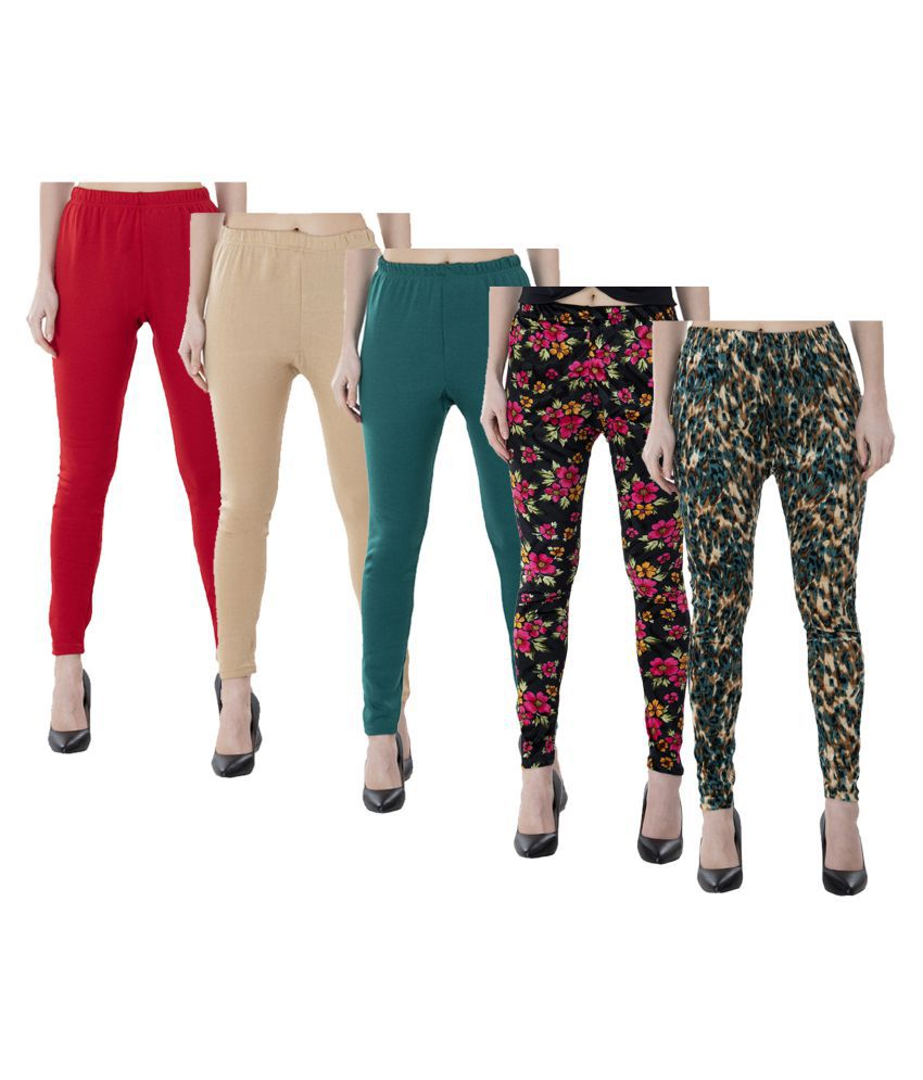 KAYU Woollen Pack of 5 Leggings