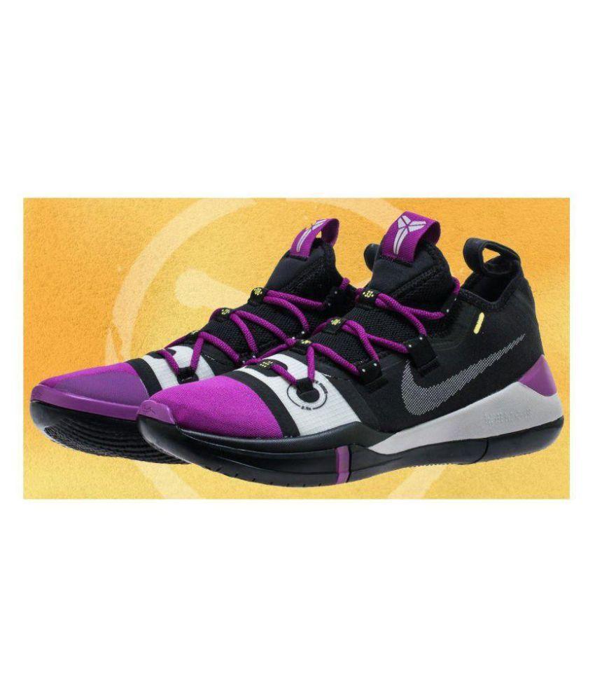the best attitude 151f4 c3c8c Nike Nike kobe Ad Exodus Black Purple Midankle Male Black  Buy Online at  Best Price on Snapdeal
