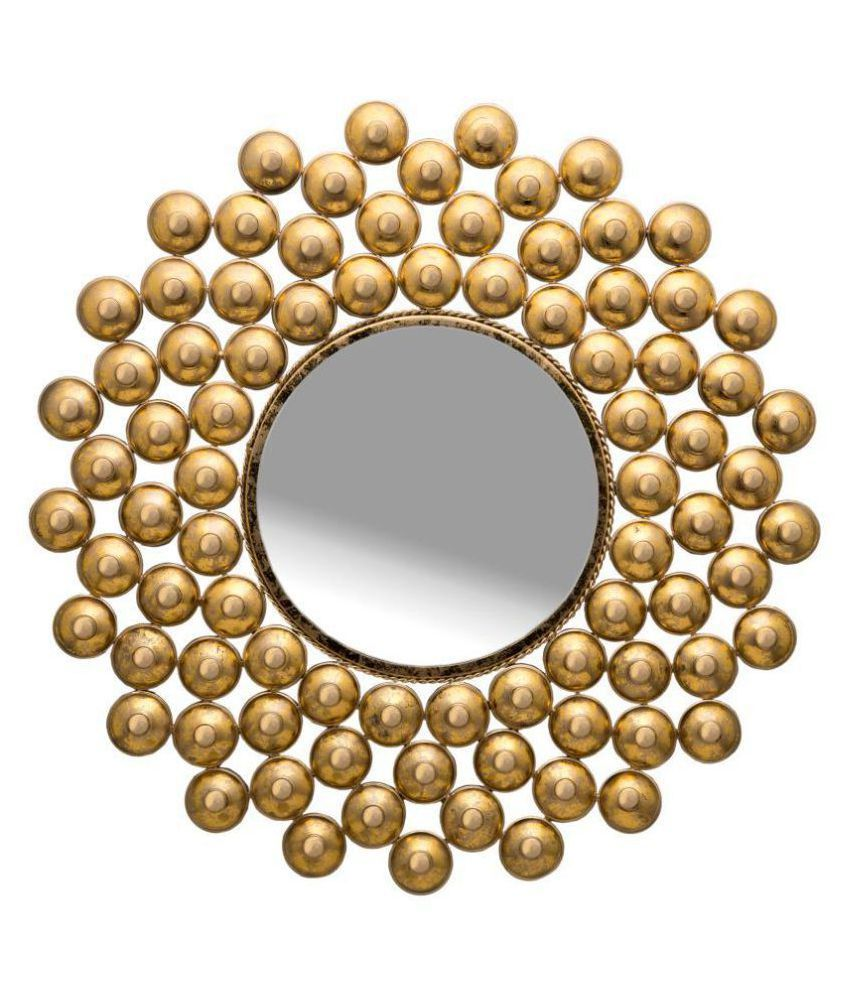 ONE DECOR Mirror Wall Mirror Gold ( 80 x 80 cms ) - Pack of 1