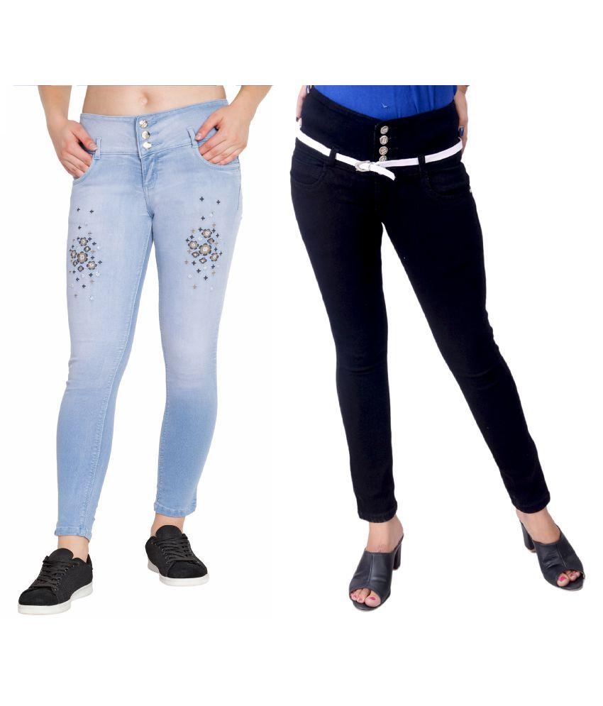 Plazma Jeans Denim Lycra Jeans - Multi Color