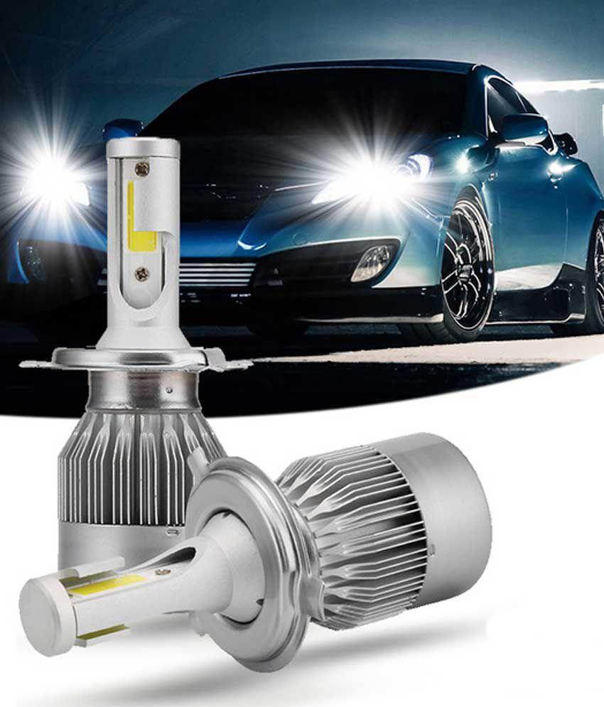 Led Headlights For Cars >> Universal High Power Auto Bulbs C6 Car Bike Led Head Lights 6000k White Light Pair