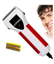 SJ Rechargeable Double Bladed Hair Shaver with Trimmer Clipper for Men Foil Shaver ( White )