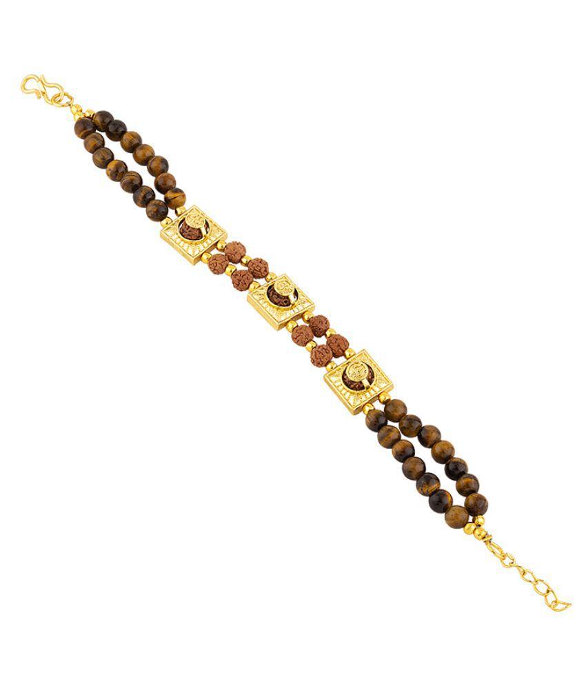 Dare by Voylla Healing Bracelet Rudraksha Beaded Men's Bracelet