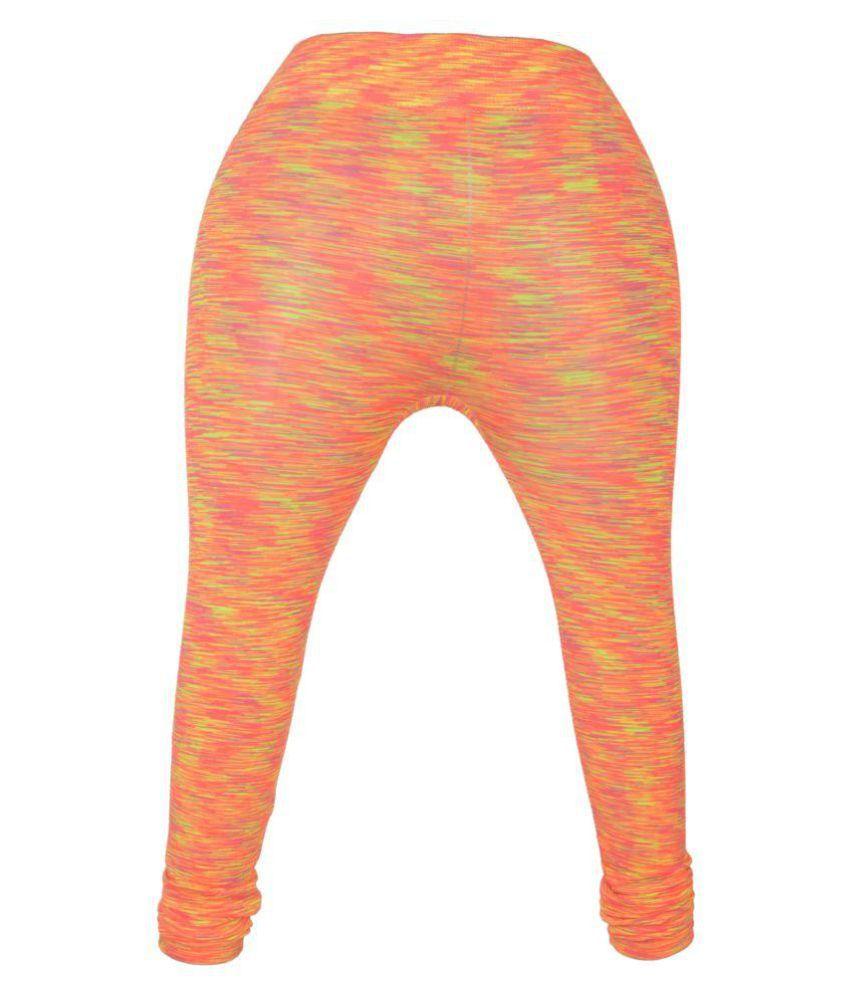 kumars collection Cotton Lycra Jeggings - Orange