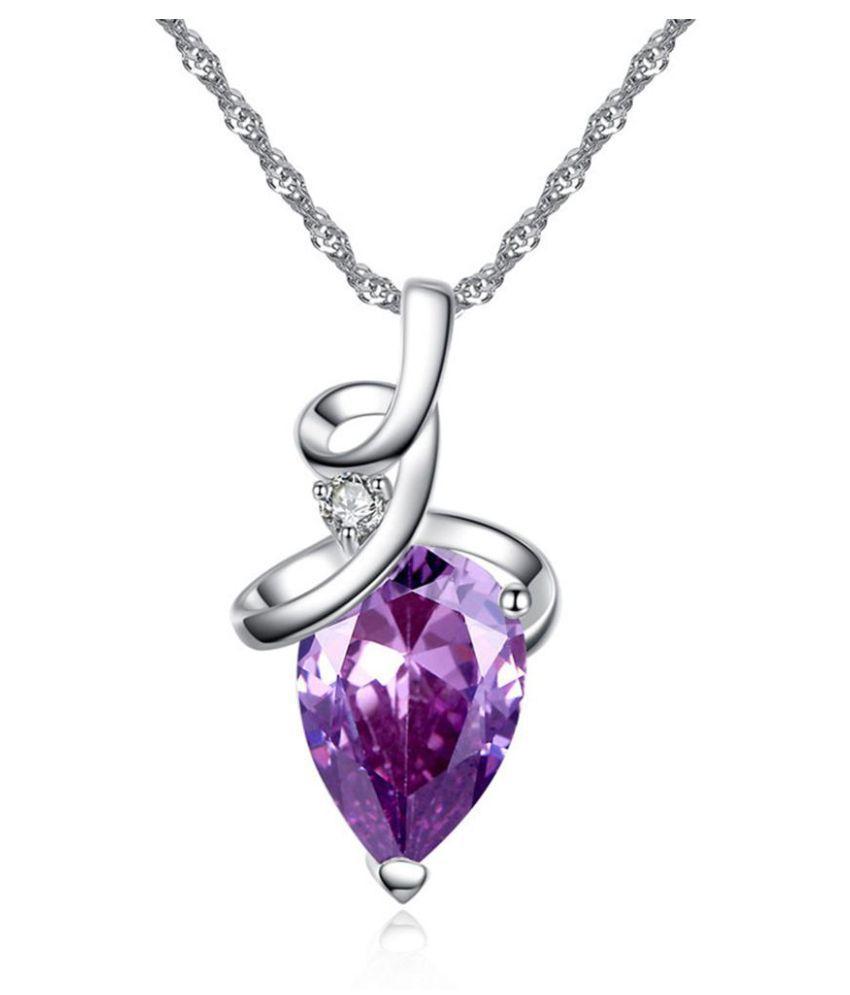 Elegant Wedding gagement Shiny Cubic Zirconia Clavicle Necklace Lady Jewelry Fashion Jewellery