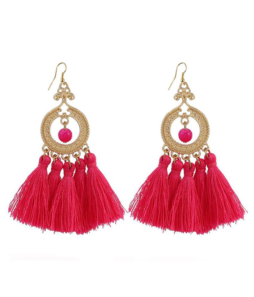 Fashion Bohemian Style Big Tassel Dangle Hook Earrings Women Statement Jewelry Fashion Jewellery