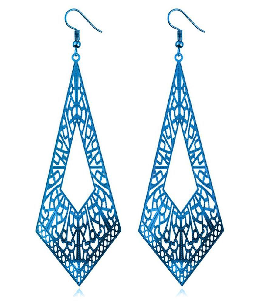 Modern Hollow Pattern Geometry Pendant Lady Long Dangle Hook Earrings Eardrop Fashion Jewellery