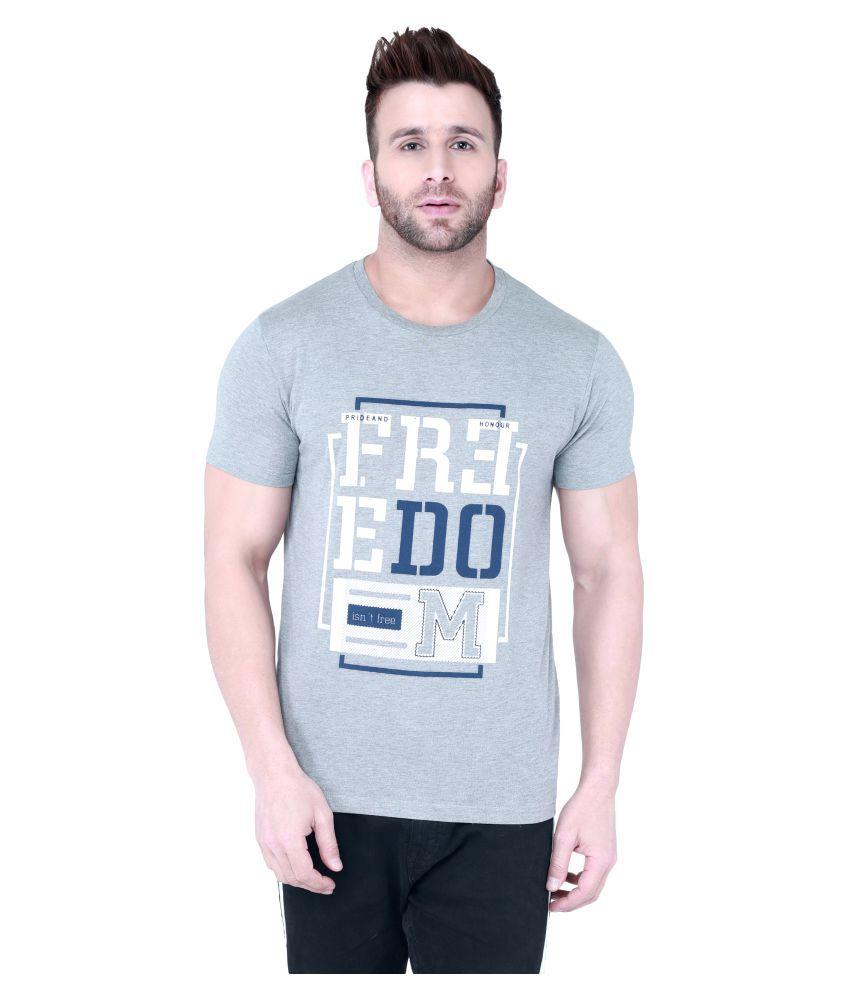 Vivid Bharti Grey Half Sleeve T-Shirt