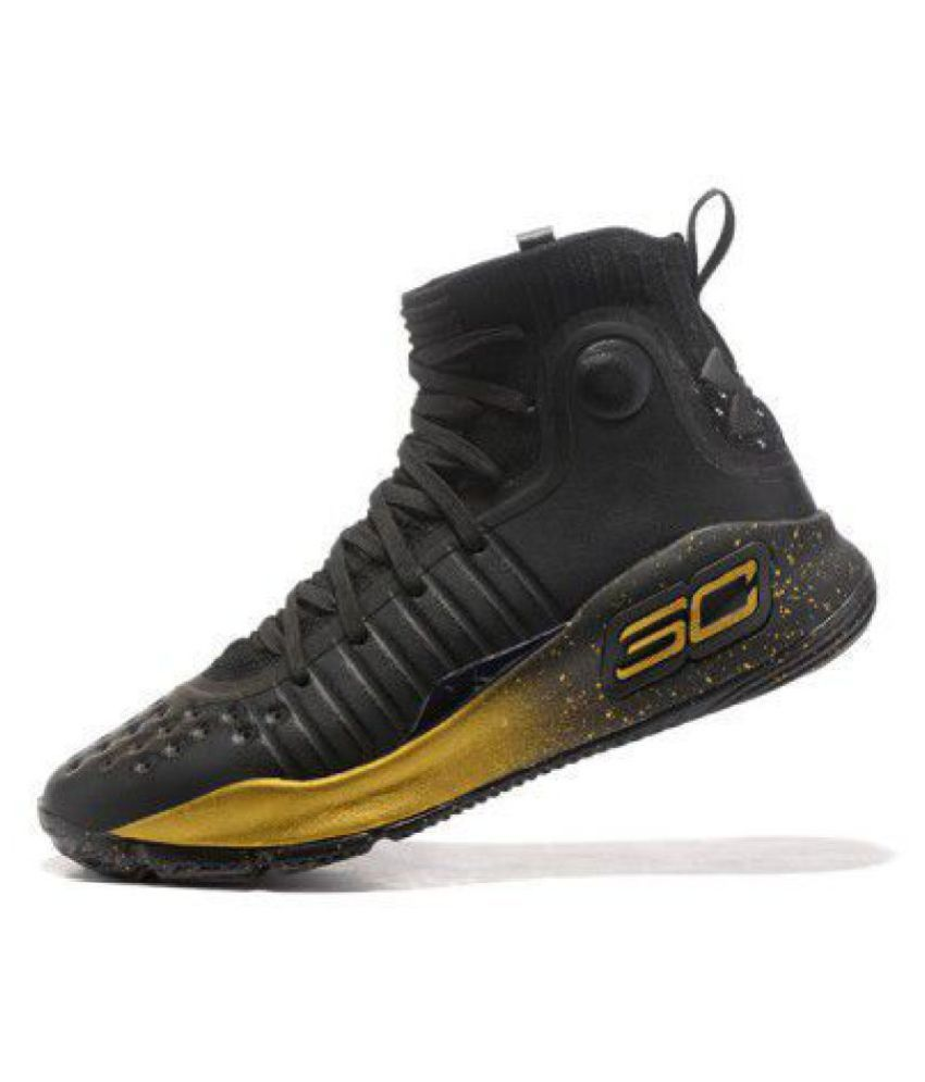 1cc95023898d Under Armour STEPHEN CURRY 4 Black Basketball Shoes - Buy Under Armour  STEPHEN CURRY 4 Black Basketball Shoes Online at Best Prices in India on  Snapdeal
