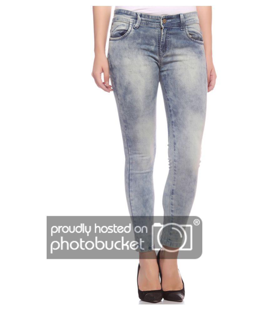 Fasnoya Cotton Lycra Jeans - Grey