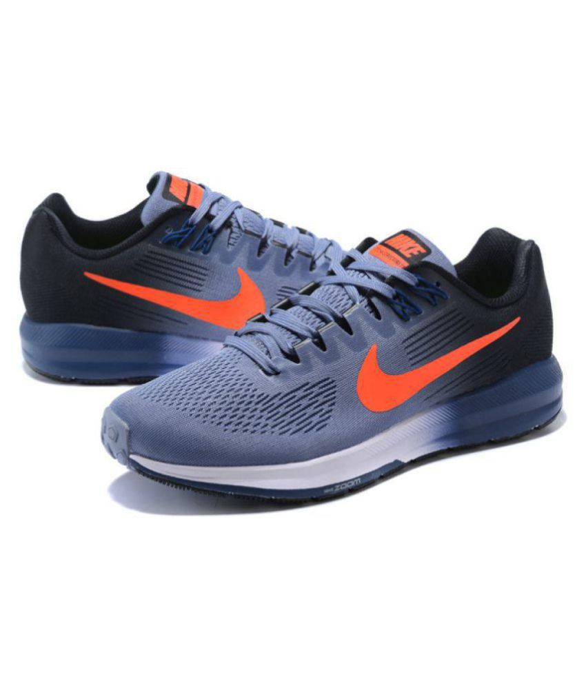 1484ef2dfacb Nike AIR ZOOM STRUCTURE 21 Running Shoes Gray  Buy Online at Best ...