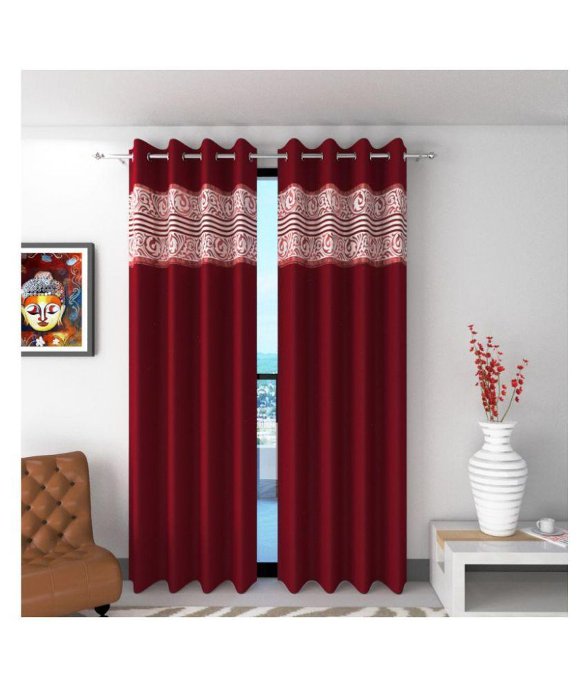 Future Trends Set of 2 Door Blackout Room Darkening Eyelet Polyester Curtains Multi Color