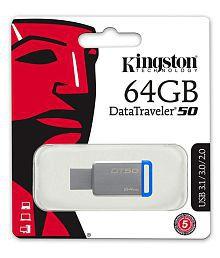 SOMOTO Kingston DataTraveler 64GB USB 3.1 Utility Pendrive Pack of 3